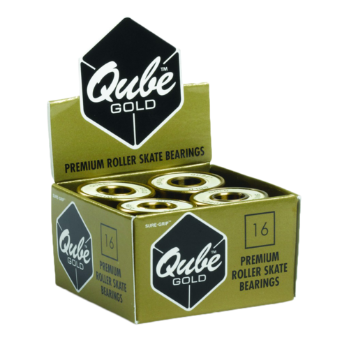 Qube Gold Swiss (7mm or 8mm, set of 16)